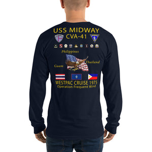 USS Midway (CVA-41) 1975 Long Sleeve Cruise Shirt