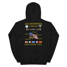 Load image into Gallery viewer, USS Enterprise (CVAN/CVN-65) 1963 Cruise Hoodie