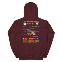 Load image into Gallery viewer, USS Enterprise (CVN-65) 1986 Cruise Hoodie