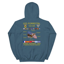 Load image into Gallery viewer, USS Forrestal (CV-59) 1991 Cruise Hoodie