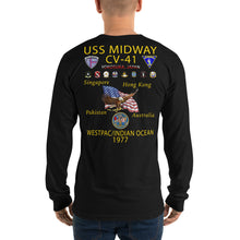 Load image into Gallery viewer, USS Midway (CV-41) 1977 Long Sleeve Cruise Shirt