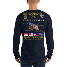Load image into Gallery viewer, USS Independence (CV-62) 1990 Long Sleeve Cruise Shirt