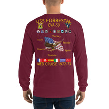 Load image into Gallery viewer, USS Forrestal (CVA-59) 1972-73 Long Sleeve Cruise Shirt