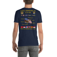Load image into Gallery viewer, USS America (CV-66) 1989 Cruise Shirt