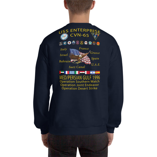 USS Enterprise (CVN-65) 1996 Cruise Sweatshirt