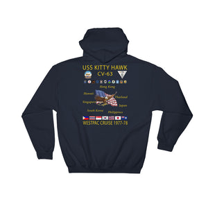 USS Kitty Hawk (CV-63) 1977-78 Cruise Hoodie