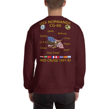 Load image into Gallery viewer, USS Normandy (CG-60) 1991-92 Cruise Sweatshirt