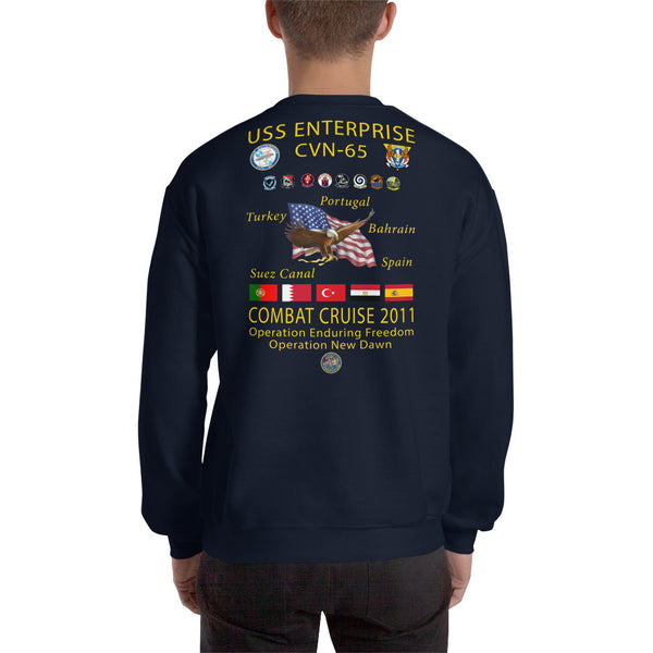 USS Enterprise (CVN-65) 2011 Cruise Sweatshirt