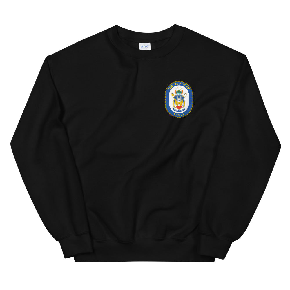 USS New York (LPD-21) Ship's Crest Sweatshirt