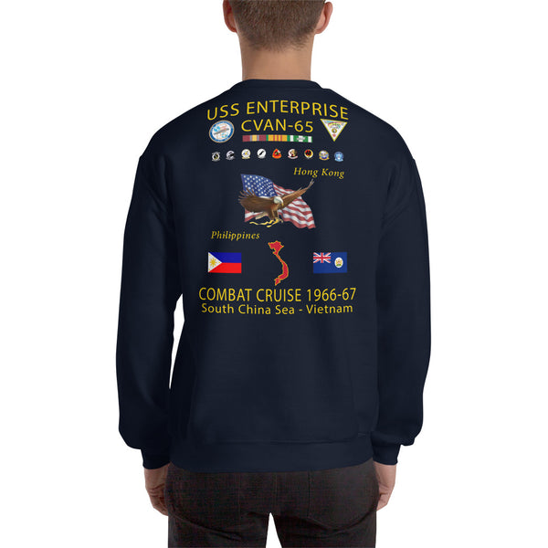 USS Enterprise (CVAN-65) 1966-67 Cruise Sweatshirt