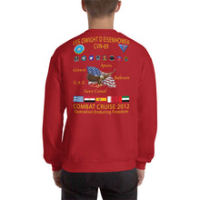 Load image into Gallery viewer, USS Dwight D. Eisenhower (CVN-69) 2012 Cruise Sweatshirt