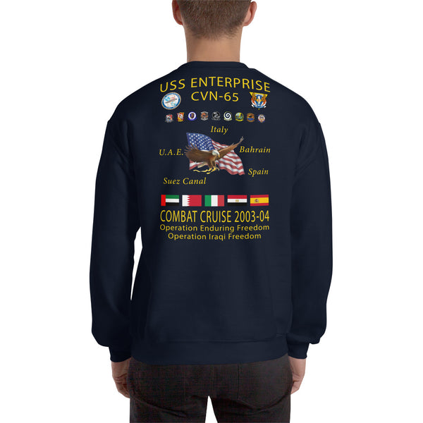 USS Enterprise (CVN-65) 2003-04 Cruise Sweatshirt
