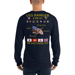 USS Ranger (CVA-61) 1959 Long Sleeve Cruise Shirt