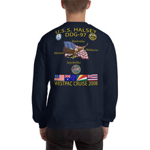 Load image into Gallery viewer, USS Halsey (DDG-97) 2008 Cruise Sweatshirt