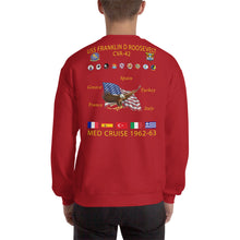 Load image into Gallery viewer, USS Franklin D. Roosevelt (CVA-42) 1962-63 Cruise Sweatshirt