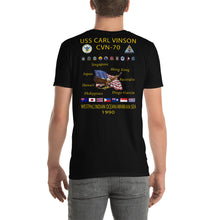 Load image into Gallery viewer, USS Carl Vinson (CVN-70) 1990 Cruise Shirt
