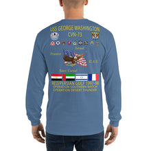 Load image into Gallery viewer, USS George Washington (CVN-73) 1997-98 Long Sleeve Cruise Shirt