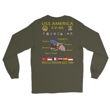 Load image into Gallery viewer, USS America (CV-66) 1989 Long Sleeve Cruise Shirt
