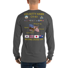 Load image into Gallery viewer, USS Kitty Hawk (CV-63) 1994 Long Sleeve Cruise Shirt