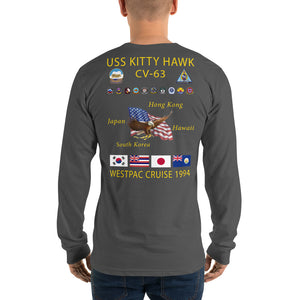 USS Kitty Hawk (CV-63) 1994 Long Sleeve Cruise Shirt