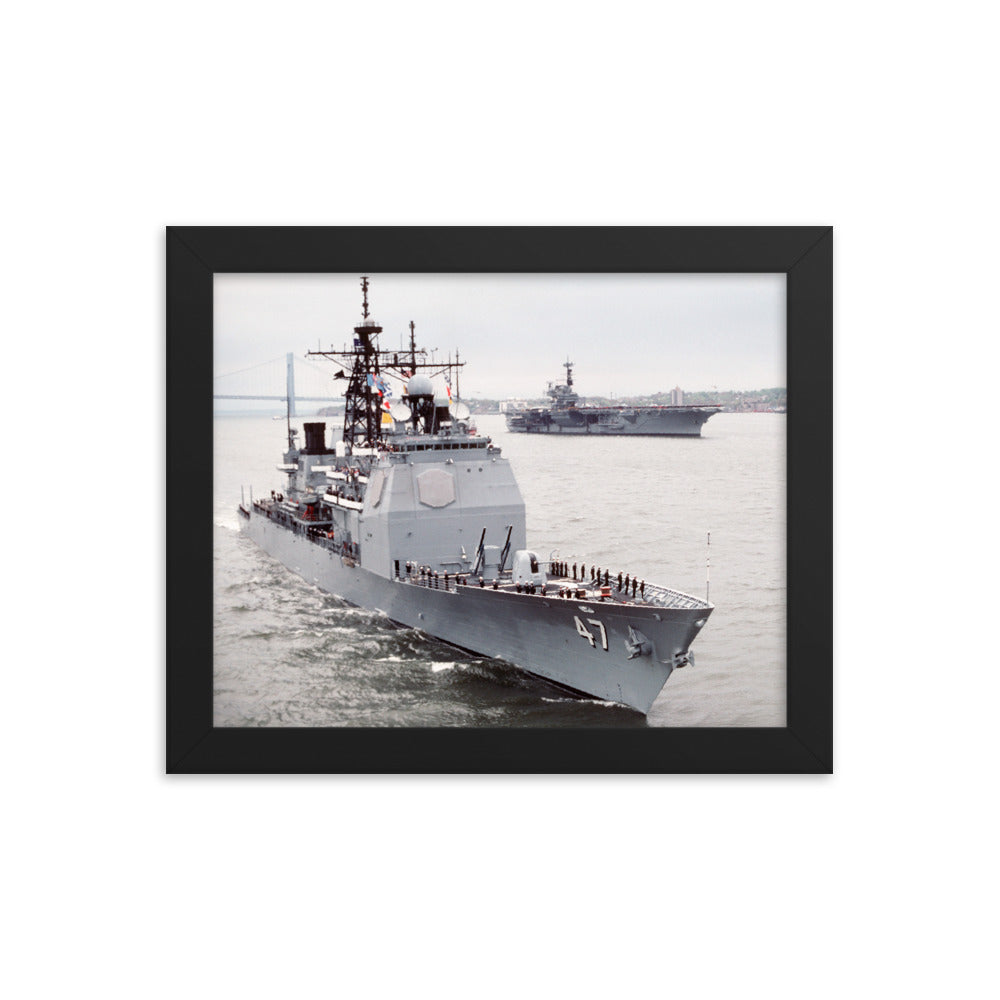 USS Ticonderoga (CG-47) Framed Ship Photo