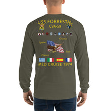 Load image into Gallery viewer, USS Forrestal (CVA-59) 1974 Long Sleeve Cruise Shirt