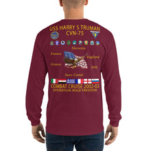 Load image into Gallery viewer, USS Harry S. Truman (CVN-75) 2002-03 Long Sleeve Cruise Shirt