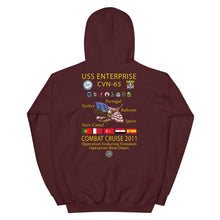 Load image into Gallery viewer, USS Enterprise (CVN-65) 2011 Cruise Hoodie