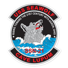 Load image into Gallery viewer, USS Seawolf (SSN-21) Ship's Crest Vinyl Sticker