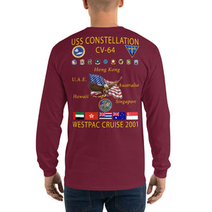 USS Constellation (CV-64) 2001 Long Sleeve Cruise Shirt