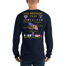 Load image into Gallery viewer, USS Midway (CV-41) 1975-76 Long Sleeve Cruise Shirt