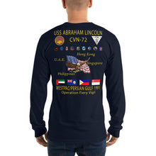 Load image into Gallery viewer, USS Abraham Lincoln (CVN-72) 1991 Long Sleeve Cruise Shirt