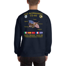 Load image into Gallery viewer, USS Normandy (CG-60) 1993-94 Cruise Sweatshirt