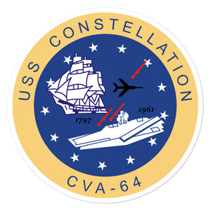 USS Constellation (CVA-64) Ship's Crest Vinyl Sticker