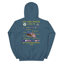 Load image into Gallery viewer, USS Carl Vinson (CVN-70) 1990 Cruise Hoodie