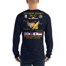 Load image into Gallery viewer, USS New Jersey (BB-62) 1968-69 Long Sleeve Cruise Shirt