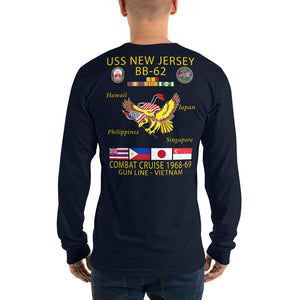 USS New Jersey (BB-62) 1968-69 Long Sleeve Cruise Shirt