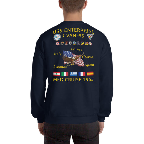 USS Enterprise (CVAN/CVN-65) 1963 Cruise Sweatshirt