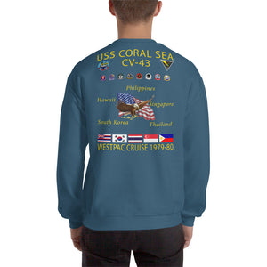 USS Coral Sea (CV-43) 1979-80 Cruise Sweatshirt