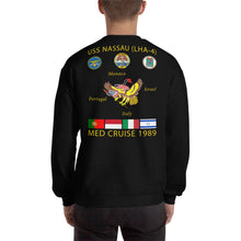 Load image into Gallery viewer, USS Nassau (LHA-4) 1989 Cruise Sweatshirt