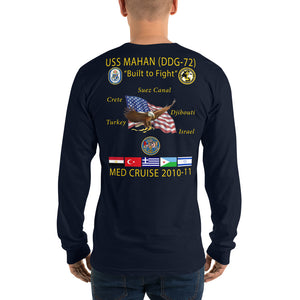 USS Mahan (DDG-72) 2010-11 Long Sleeve Cruise Shirt