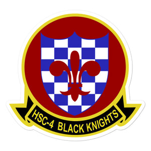 HSC-4 Black Knights Squadron Crest Vinyl Sticker