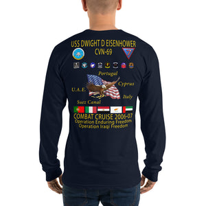 USS Dwight D. Eisenhower (CVN-69) 2006-07 Long Sleeve Cruise Shirt