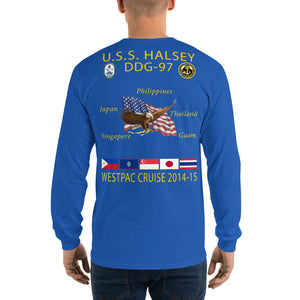 USS Halsey (DDG-97) 2014-15 Long Sleeve Cruise Shirt