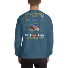 Load image into Gallery viewer, USS Independence (CV-62) 1979 Cruise Sweatshirt