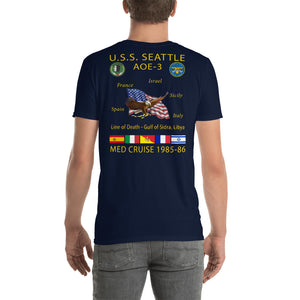 USS Seattle (AOE-3) 1985-86 Cruise Shirt