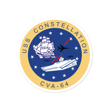 Load image into Gallery viewer, USS Constellation (CVA-64) Ship's Crest Vinyl Sticker