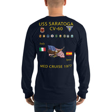 Load image into Gallery viewer, USS Saratoga (CV-60) 1977 Long Sleeve Cruise Shirt