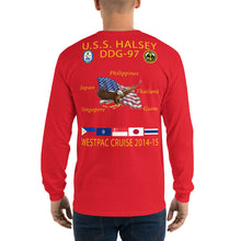 Load image into Gallery viewer, USS Halsey (DDG-97) 2014-15 Long Sleeve Cruise Shirt