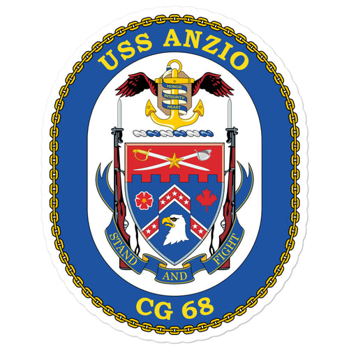 USS Arleigh Burke (DDG-51) Ship's Crest Vinyl Sticker